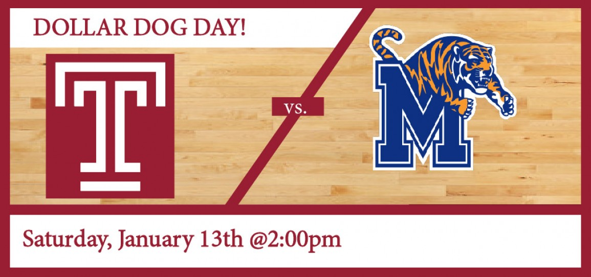 Temple Men's Basketball vs Memphis: Dollar Dog Day!