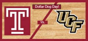 Temple Men's Basketball vs University of Central Florida: Dollar Dog Day!