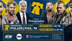 ALL ELITE WRESTLING TO MAKE THEIR  PHILADELPHIA DEBUT THIS OCTOBER 16  LIVE AT THE LIACOURAS CENTER